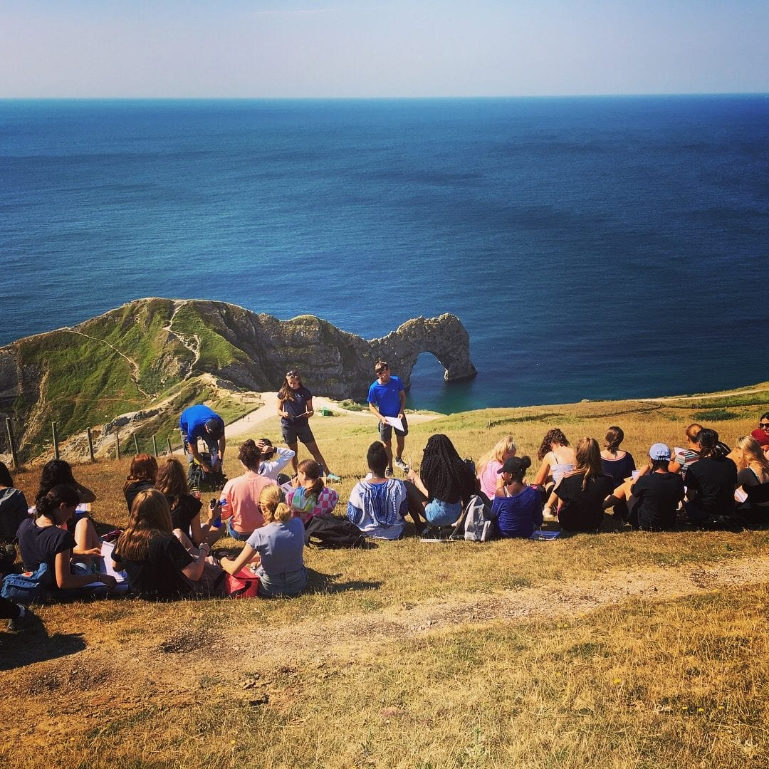 Queenswood Year 10 Geographers at Durndle Door